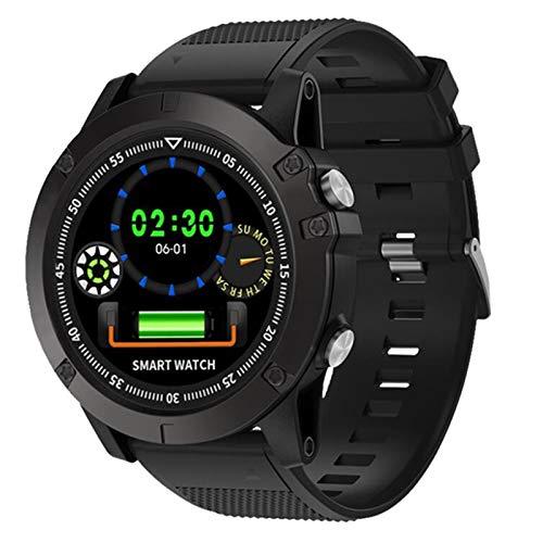 Gulu Pulsera Inteligente Hombre Deportes Ritmo cardíaco Ritmo Arterial Fitness Tracker IP68 Reloj Inteligente Impermeable para Android iOS Smart Band,A