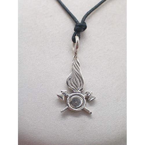 Vigili del Fuoco - Ciondolo in Argento 925 - Pompieri - stemma - simbolo - logo - pendente -
