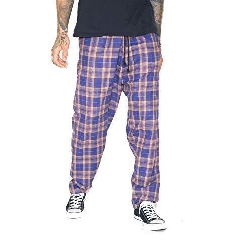 Skidz Original Pants - Baymen Purple Plaid Pattern.