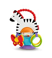 Fisher-Price Activity Zebra, New-born Sensory Toy with Suction Base with Colours, Textures and Sound...