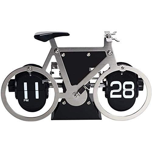 Fikujap Reloj, Bicicleta, Estilo de Acero Inoxidable, 7.8x4.7x3.5 Pulgadas, Silencio