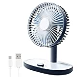 WLGQ Ventilador de Escritorio, Ventilador de Escritorio USB, Ventilador USB silencioso, con 90 Grados;Ventilador de refrigeración de Mesa de Escritorio de Velocidad Continua con Cabezal ajustabl