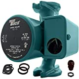Taco 007-F5 Cast Iron Circulator, 1/25 HP Pump with Universal Pump Flange Gaskets and Wire Gland, Green
