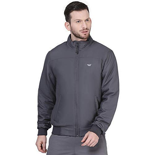 Wildcraft Men's Track Jacket (40365_Grey_XL)