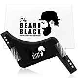 The Beard Black - Peine Plantilla Guía de Afeitado para Barba