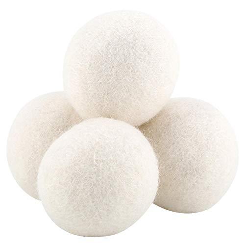 Bolas para Secadora Bolas para Secadora de Ropa Lana Secadora Natural Pura Bolas de Lana Reemplazo de la Hoja del secador