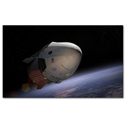 mmzki Astronauten Trinken Bier auf dem Mond Amerikanische dekorative Malerei und Ölspraymalerei Leinwand Wandkunst Home Decor Poster-70X100cm_no_Frame_11