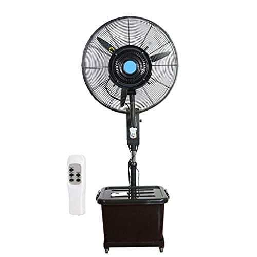 yanzz Ventiladores Ventilador de Servicio Pesado Potente Ventilador de enfriamiento de nebulización oscilante Industrial Silencioso con Control Remoto/Circulador de Aire frío Ventilador de Piso