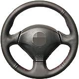 HZHAOWEI Cubierta del Volante del Coche de Cuero Negro, para Honda S2000 2000-2008 Civic Si 2002-2004 Acura RSX Type-S 2005-Blue Thread