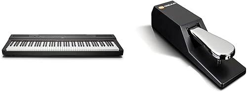 Yamaha P-125 piano numérique avec 88 touches – Compact, transportable et élégant & M-Audio SP-2 - Pédale de Sustain U...