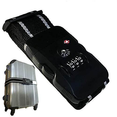 【TRAVELGATE】TSA ロックベルト 日本語説明書付属 スーツケース トランク ベルト