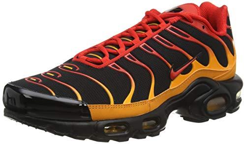 Nike Air Max Plus, Scarpe da Corsa Uomo, Black/Chile Red-Vivid Orange, 43 EU