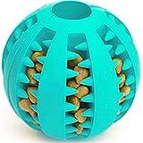 Bola de Juguete no tóxica Resistente a Las mordeduras para Mascotas, Perros, Cachorros, Gatos, Comida para Perros, alimentador de golosinas, (3 Paquetes Azul + Verde + Amarillo)