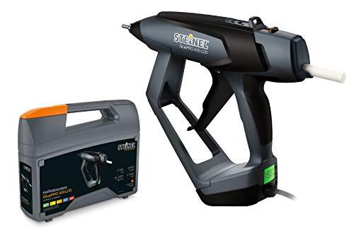 Steinel Klebepistole GluePRO 400 mit LCD Display im Koffer, Heißklebepistole, Klebemenge einstellbar, wechselbare Düse