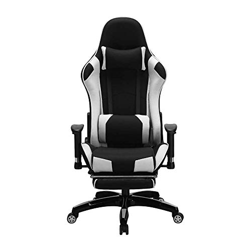 LHQ-HQ Silla prima ordenador silla de la computadora de escritorio de estilo de carreras de alta de nuevo presidente y ejecutivo silla giratoria ergonómica Style (Color: Color de imagen, tamaño: 70X70