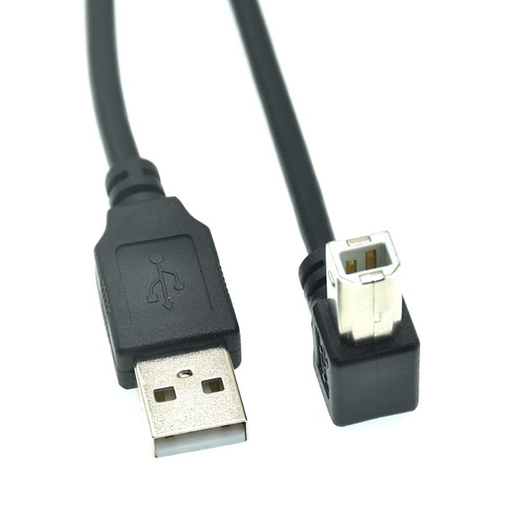 Type A Male to Type B Male 90 Degree Up & Down & Left & Right Angled USB 2.0 Printer Scanner Cable 30cm 50cm 1m 150cm 1ft 5 feet-1M,Up Angled