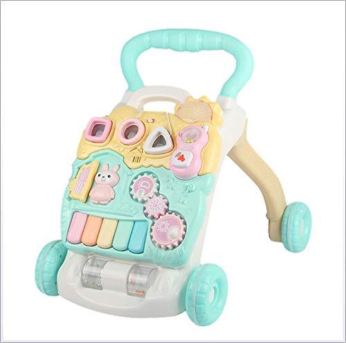 HU Baby Walker Trolley Toy Einstellbare Geschwindigkeit Anti-Rutsch-Räder Baby Activity Walker Mit Musik