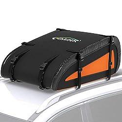 LIMINK Dachbox Auto Dachtasche Wasserdicht Dachkoffer Faltbare Gepäckbox mit verstellbare Gurte Dachgepäckträger Tasche für Reisen und Gepäcktransport