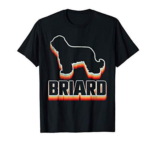 プラウドブリアードオーナーレトロシャツ、ブリアード子犬好き、ブリアード誕生日プレゼント Tシャツ