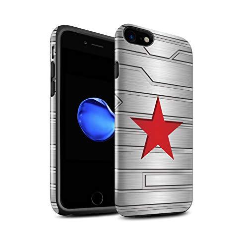 Stuff4 Lucidare Antiurto Custodia/Cover/Caso/Cassa del Telefono per Apple iPhone 7 / Winter Soldier Ispirato/Arte Anti Eroe Disegno