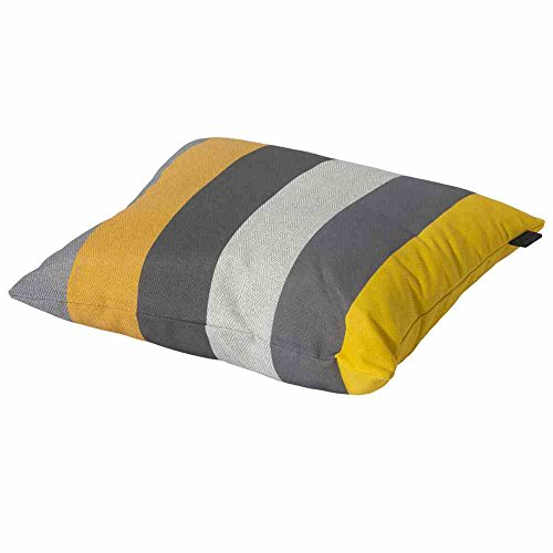 Cojines decorativos amarillos y gris. 50 x 50 x 12 cm