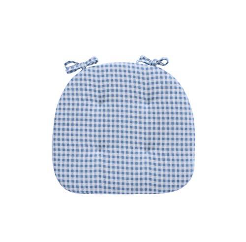 TikTako 1Pc Sitzkissen für Küchenstuhl Baumwolle Mischung Sitzkissen Stuhlkissen Trapezförmige Form Blau Plaid