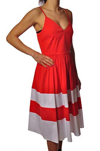 Twin-Set YS82FA-jurk, met veters en uitlopende bodem, kleur: rood