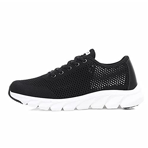 Mujeres de malla zapatillas de deporte transpirables zapatos planos ocasionales for mujeres zapatos deportivos ligeros de zapatos for correr antideslizantes zapatos de entrenadores