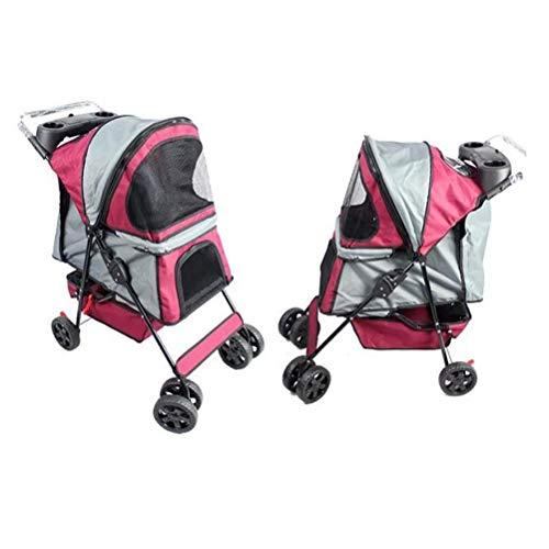 MC.PIG Klappbarer Kinderwagen - Neuer Kinderwagen Hundebuggy für unterwegs   Travel Vet Stroller Disabled Dog Kinderwagen   Haustiere sind leicht und atmungsaktiv für kleine und mittlere Hunde. Sie kö