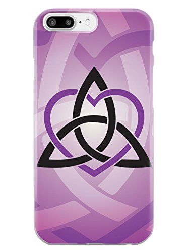 Inspired Cases - 3D Textured iPhone 8 Plus Case - Rubber Bumper Cover - Protective Phone Case for Apple iPhone 8 Plus - Celtic Sisters Knot - Purple - White