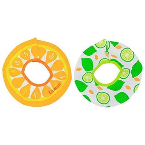 HAOCAI Baberos bandana para bebé, con impresión de frutas, babero redondo de alimentación para bebés, babero absorbente giratorio 360, paño de saliva para bebés y niñas