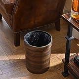 AHAI YU Vintage Abfalleimer mit Holzmaserung Haushalt ohne Deckel Mülleimer Home Office Mülleimer