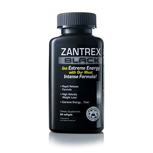 Zantrex Black - Weight Loss Supplement Pills - Weight Loss Pills - Weightloss Pills - Dietary Supplements for Weight Loss - Lose Weight Supplement - Energy and Weight Loss Pills - 84 Count