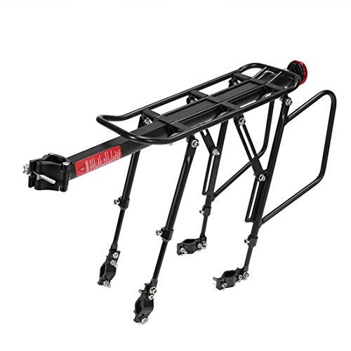 POXL Portaequipajes Bicicletas Trasero para MTB, Ajustables Aluminio Portaequipajes Bici Bicicleta Rack Capacidad MAX 50Kg