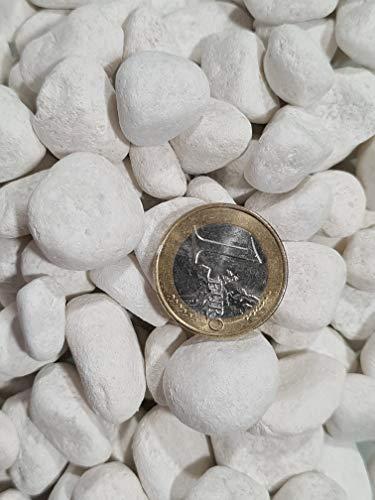 Piedra Canto Rodado Saco Blanco Especial (99%) (20 Kg, Tamaño: 10-20mm)