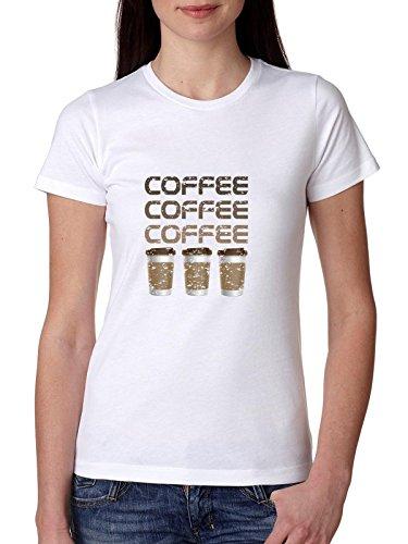 Koffie Koffie Koffie Iconische Draagbare Beker Vrouwen Katoen T-Shirt