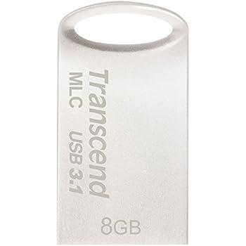Transcend USBメモリ MLC採用 8GB USB3.1 & USB 3.0 キャップレス シルバー 耐衝撃 防滴 防塵 2年保証 TS8GJF720S