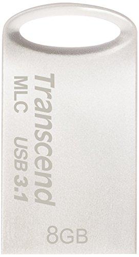 【Amazon.co.jp限定】Transcend USBメモリ 32GB USB3.1 & USB 3.0 キャップレス シルバー 耐衝撃 防滴 防塵...