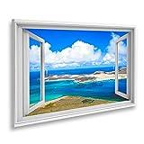islandburner Bild auf Leinwand Fensterblick Vulkaninsel La