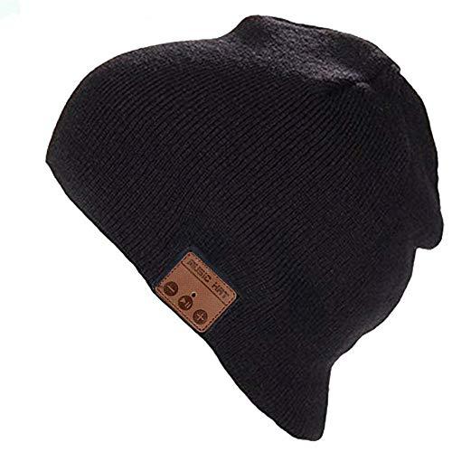 Cappello Sportivo da Esterno Campeggio Sci Cappello Bluetooth Idee Regalo Uomo Ultra Morbidi Lavabili Cappello Uomo Donna Invernali Berretto Bluetooth 5.0 Musica Cappello Migliori Regali Natale