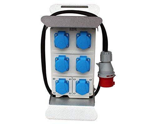 Stromverteiler Baustromverteiler Verteiler CEE 16A / 400V - 230V Steckdosenverteiler
