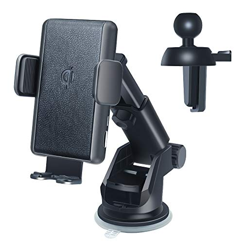 GZERMA Wireless Car Phone Mount Charger, 15W Qi Car Charger Mount Auto Clamping Cell Phone Holder for iPhone 11/11 Pro/11 Pro Max/Xs MAX/XS/XR/X/8/8+, Samsung S10/S10+/S9/S9+/S8/S8+ Wireless Charger
