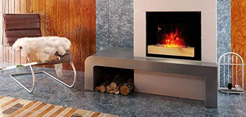 Chemin'Arte 179 cheminee electrique fire wood 2000W, Noire, 66x15x52cm