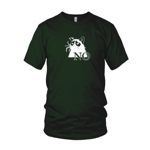 Grumpy Cat - Herren T-Shirt, Größe: S, Farbe: dunkelgrün