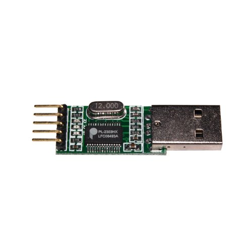 NooElec PL2303 USB to Serial (TTL) Module/Adapter with Female and Male Wiring Harnesses & Test Jumper. Compatible with…