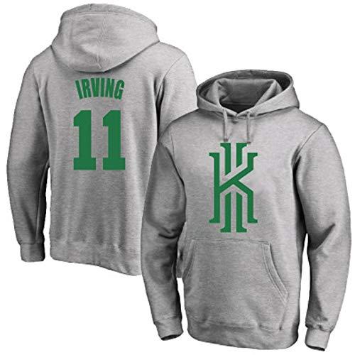 Zxwzzz NBA Suéter con Capucha De Los Hombres La Ropa Cómoda Ocasionales De Baloncesto Boston Celtics Irving No.11 Jersey, Gris (Color : Grey1, Size : Large)