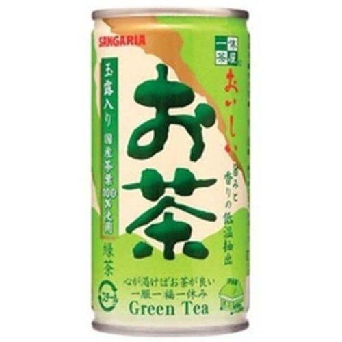 サンガリア おいしいお茶 缶 190ml×30本