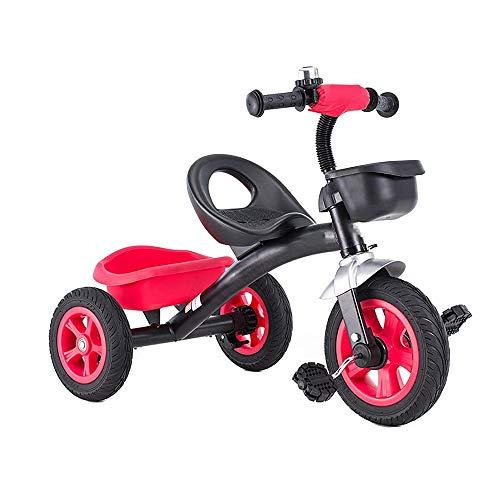 Para niños Niñito Pedal Triciclo, 1-6 años Antiguo Chico y Niña Equilibrar Bicicleta con Pedales y Frente y Posterior Grande Capacidad Almacenamiento Cesta, los para Para niños Al aire libre,R