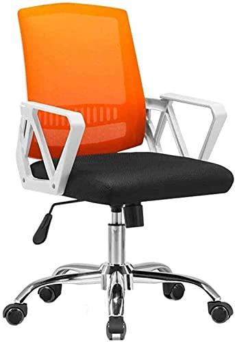 N&O Renovierungshaus Komfortabler Bürostuhl Erhöhter drehbarer Computerstuhl Faltbarer Netzsitz mit freier Funktion für Büro-Studentenwohnheim Nenntragfähigkeit: 150 kg Orange