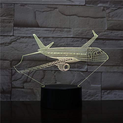wanmeidp Modelo de avión USB 3D Led proyector de Diapositivas de luz Nocturna Regalo para niños lámpara de Mesa para pasajeros Regalo de mesita de Noche